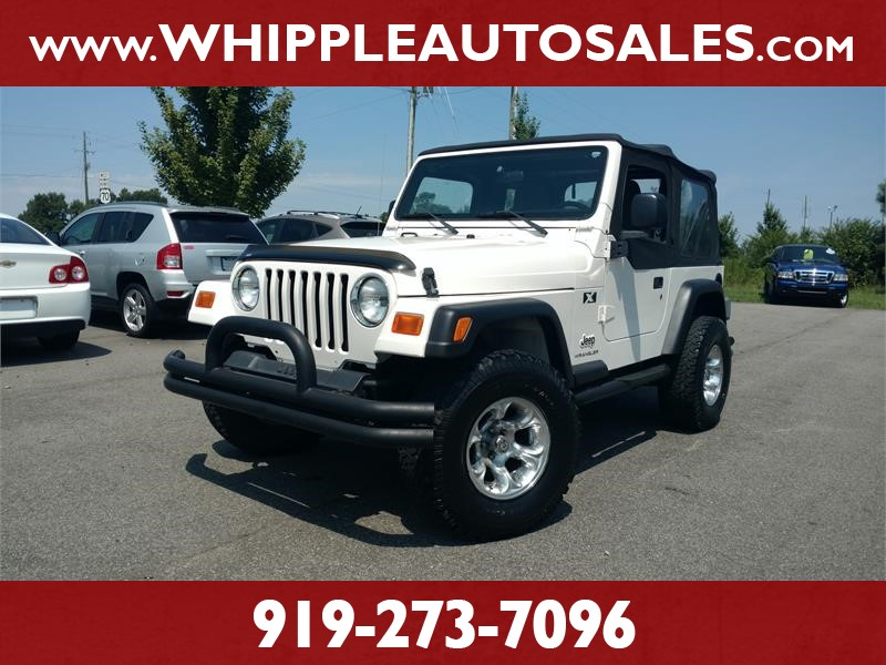 2003 JEEP WRANGLER X for sale by dealer