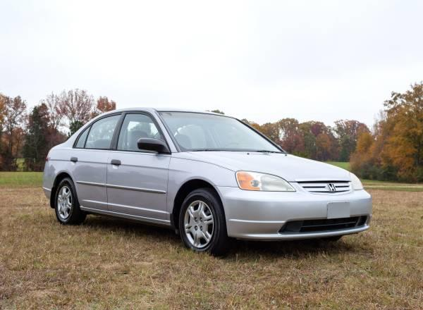 2001 Honda Civic LX sedan for sale in Stokesdale
