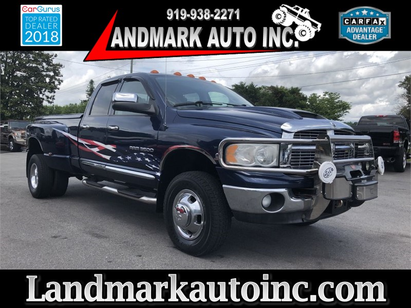 2005 DODGE RAM 3500 LARAMIE QUAD CAB DRW 4WD for sale by dealer