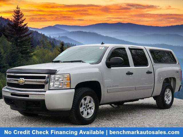 A used 2011 Chevrolet Silverado 1500 4x4 LS 4dr Crew Cab 5.8 ft. SB Asheville NC