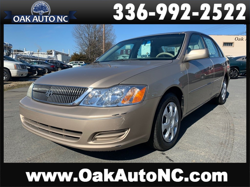 2002 TOYOTA AVALON XL 1 OWNER 60 SERVICE RECORDS for sale by dealer