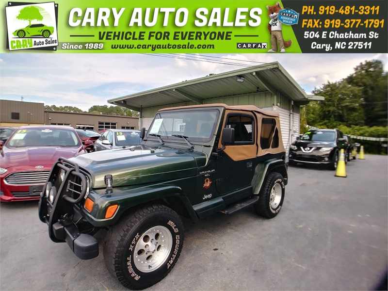 1998 JEEP WRANGLER / TJ SAHARA for sale by dealer